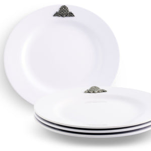 Light Weight Melamine Artichoke Motif Luncheon Plates 4 piece set
