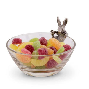 Pewter Bunny Rabbit Snack Tidbit Dip Bowl | timothy De Clue Collection