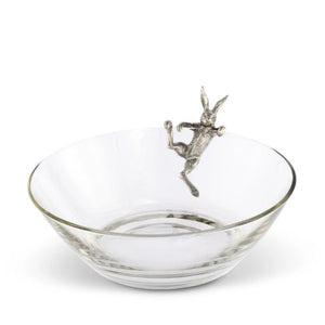 Pewter Bunny Rabbit Salad or Fruit Serving Bowl | Timothy De Clue Collection