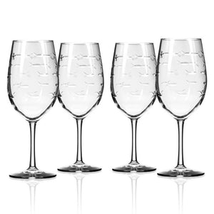 School of Fish All Purpose Wine - Set of 4