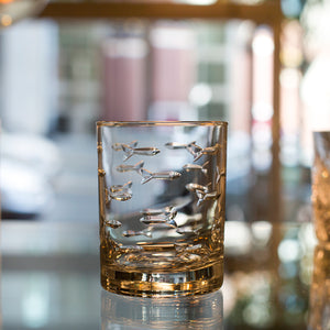 Lead-Free Crystal Double Old Fashioned Glasses
