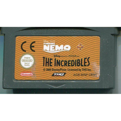 GBA - 2 spil - Finding Nemo & The Incredibles