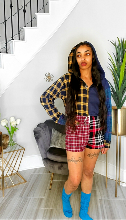 Plaid Flava | Crop Set