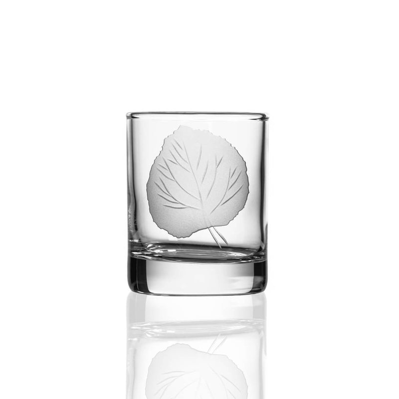"Rolf Glass Aspen Leaf 2.5"" Votive"