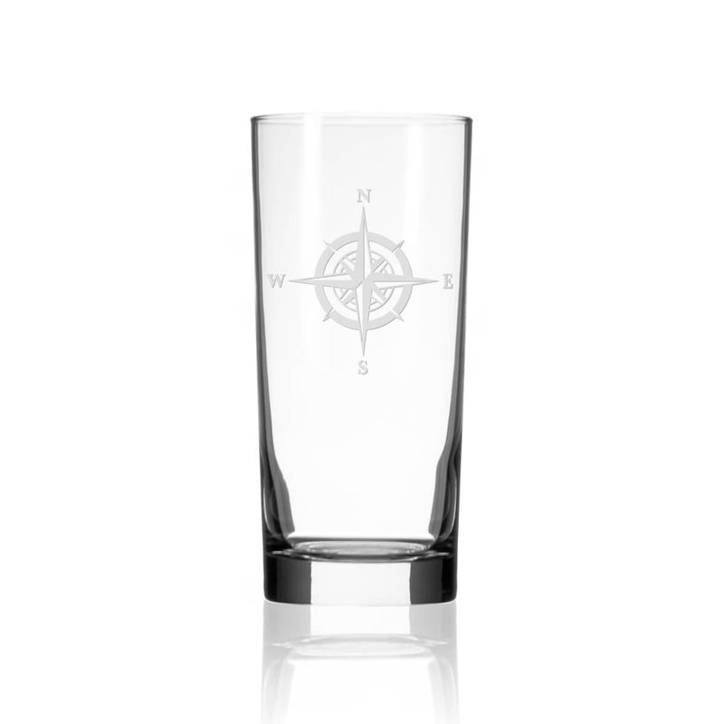 Rolf Glass Compass Rose 15oz Cooler Highball