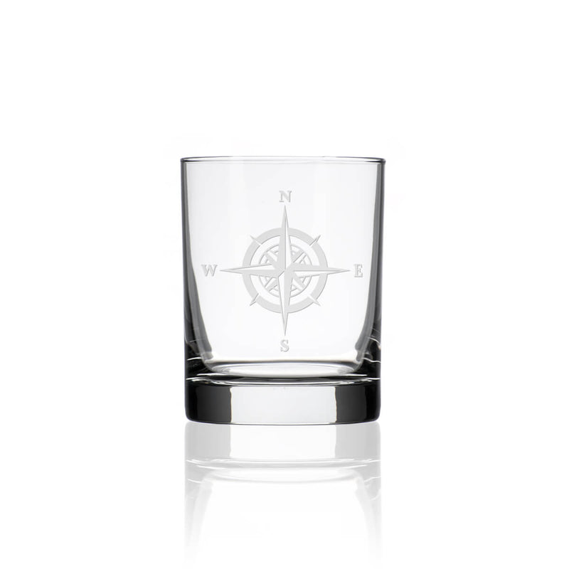 Rolf Glass Compass Rose 14oz Double Old Fashioned