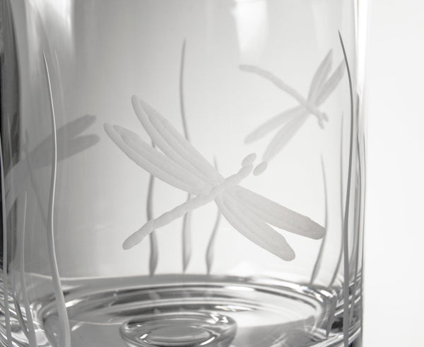 Rolf Glass Dragonfly Ice Bucket