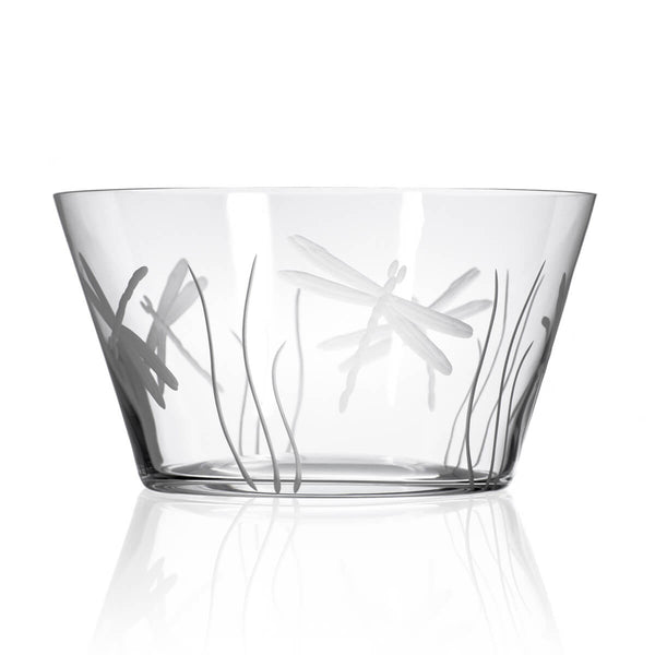 "Rolf Glass Dragonfly 10"" Large Bowl"