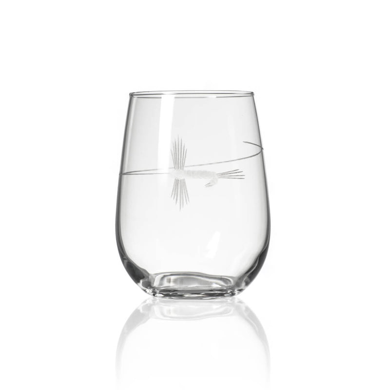 Rolf Glass Fly Fishing 17oz Stemless Wine