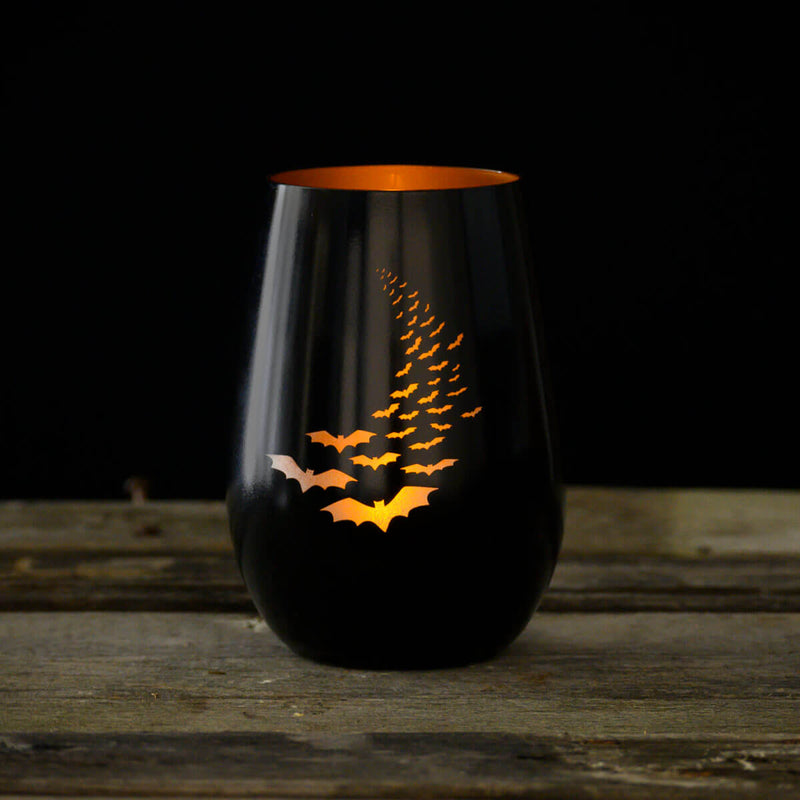 Rolf Glass Going Batty 16.5oz Stemless Wine Tumbler