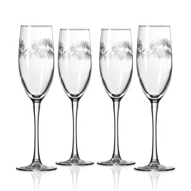 Rolf Glass Icy Pine 8oz Champagne Flute