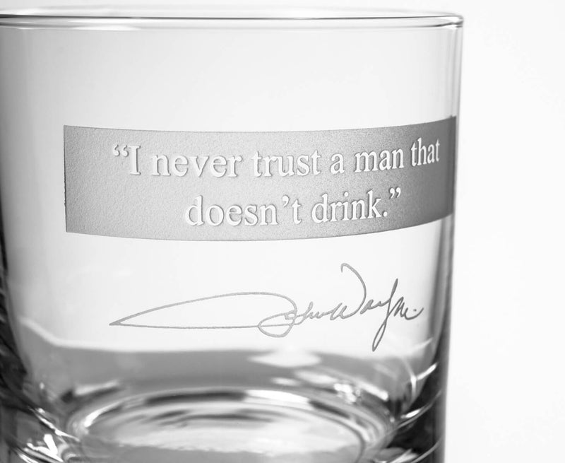 "Rolf Glass John Wayne ""Quotes Series 1"" 3 Piece Gift Set 