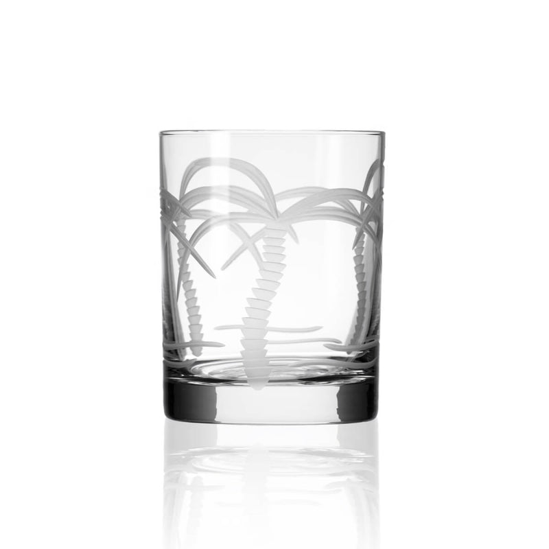 Rolf Glass Palm Tree 14oz Double Old Fashioned