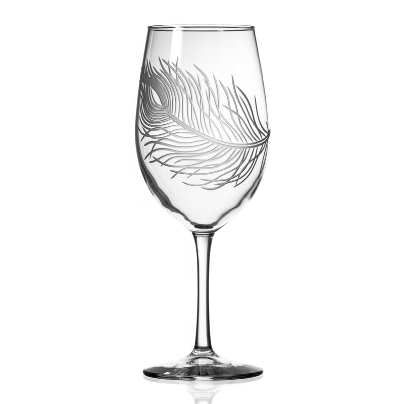 Rolf Glass Peacock 18oz All Purpose Wine