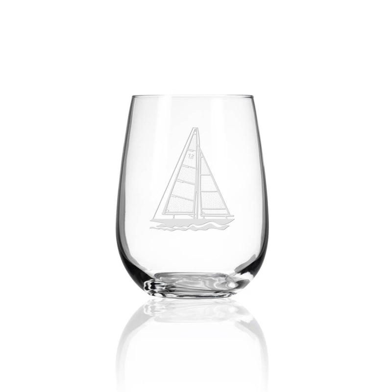 Rolf Glass Sailboat 17oz Stemless Wine