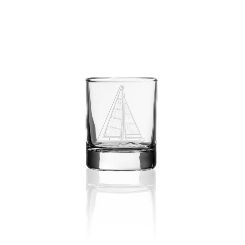 "Rolf Glass Sailboat 2.5"" Candle Votive"