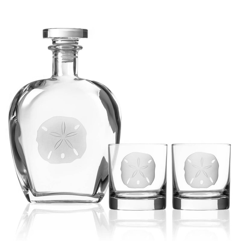 Rolf Glass Sand Dollar 3 Piece Gift Set