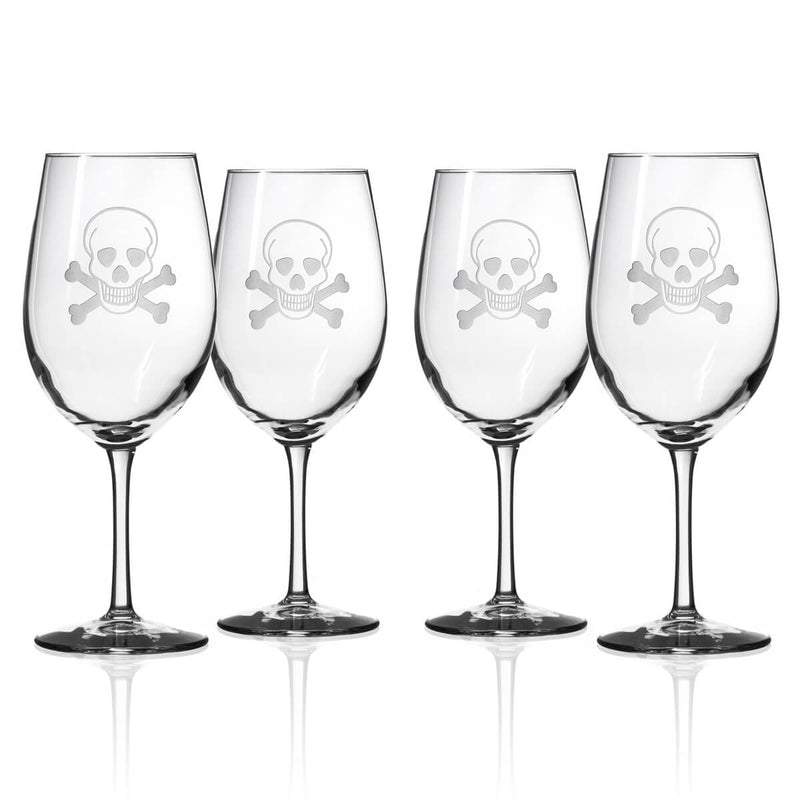 Rolf Glass Skull and Cross Bones 18oz All Purpose Wine