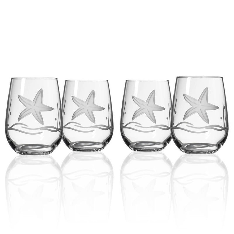Rolf Glass Starfish 17oz Stemless Wine