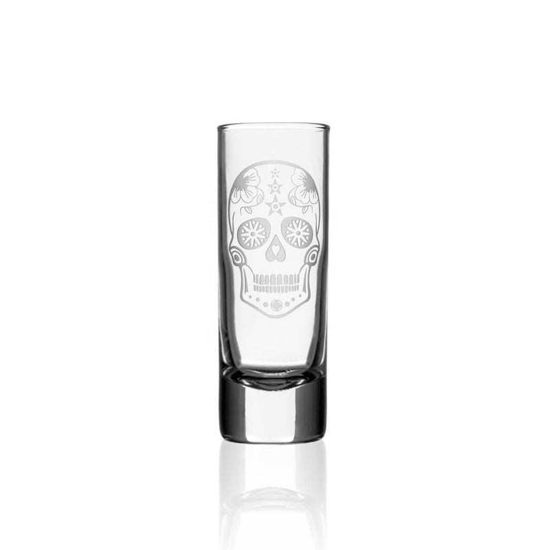 Rolf Glass Sugar Skull 2.5oz Cordial