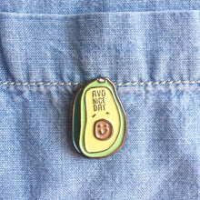 Load image into Gallery viewer, Avo Nice Day Avocado Brunch Enamel / Lapel Pin