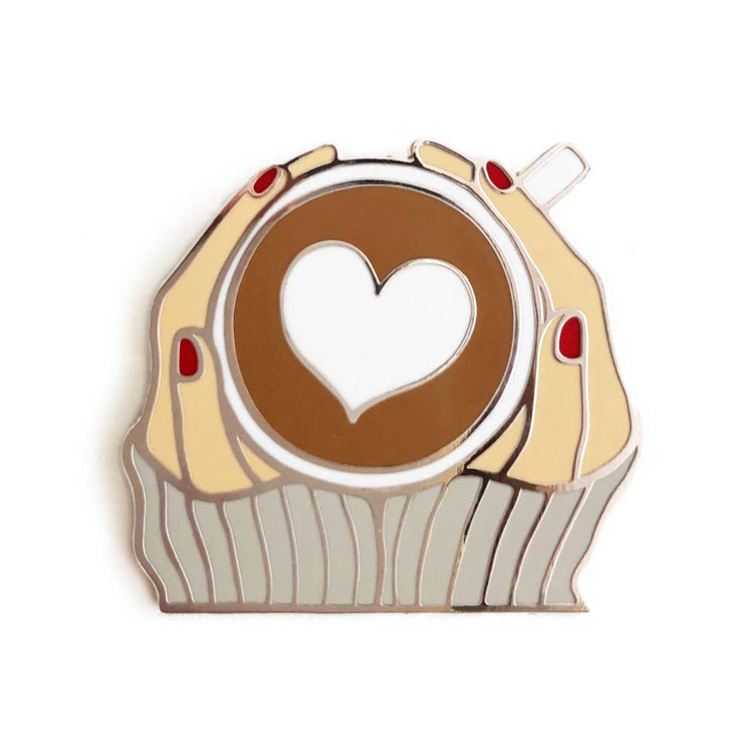 Love You Latte pin