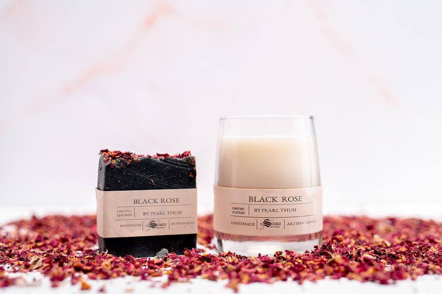 LIMITED EDITION BLACK ROSE GIFT SET BY PEARL THUSI