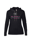 Women's Long Sleeve Hooded Logo T