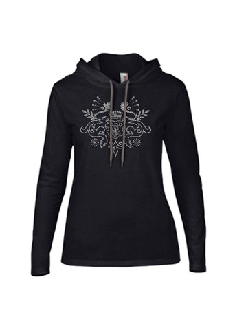 Women's Long Sleeve Hooded Crest T