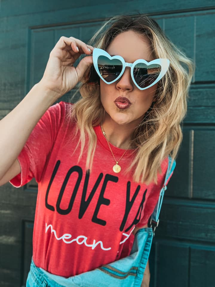 Love Ya Mean It Acid Wash Tee