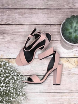 Qupid Blush Heels - Size 6