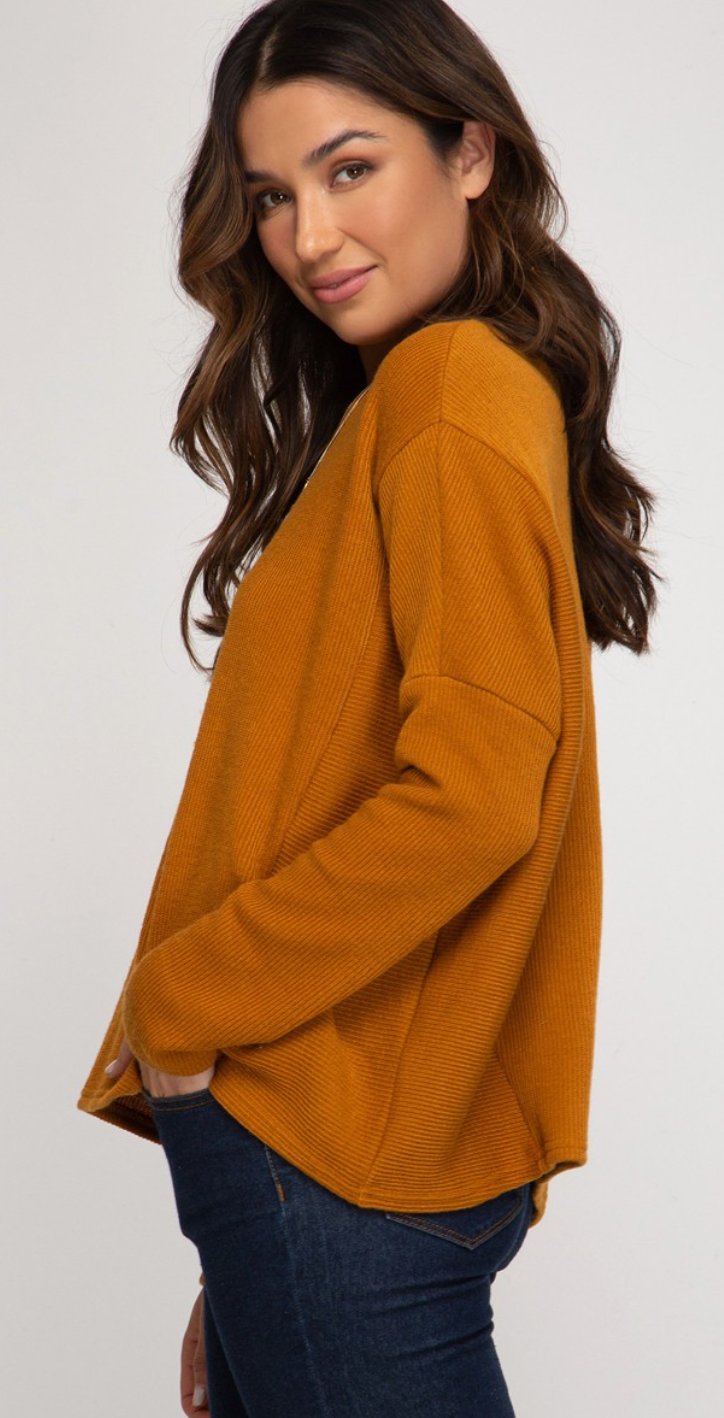 Oh So Chic Ribbed Sweater (2 Colors!)