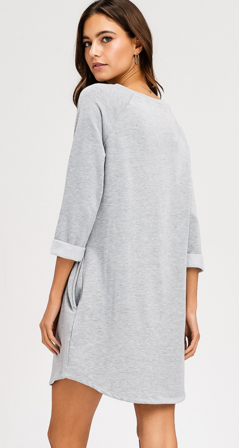 Second To None Fleece Sweatshirt Dress