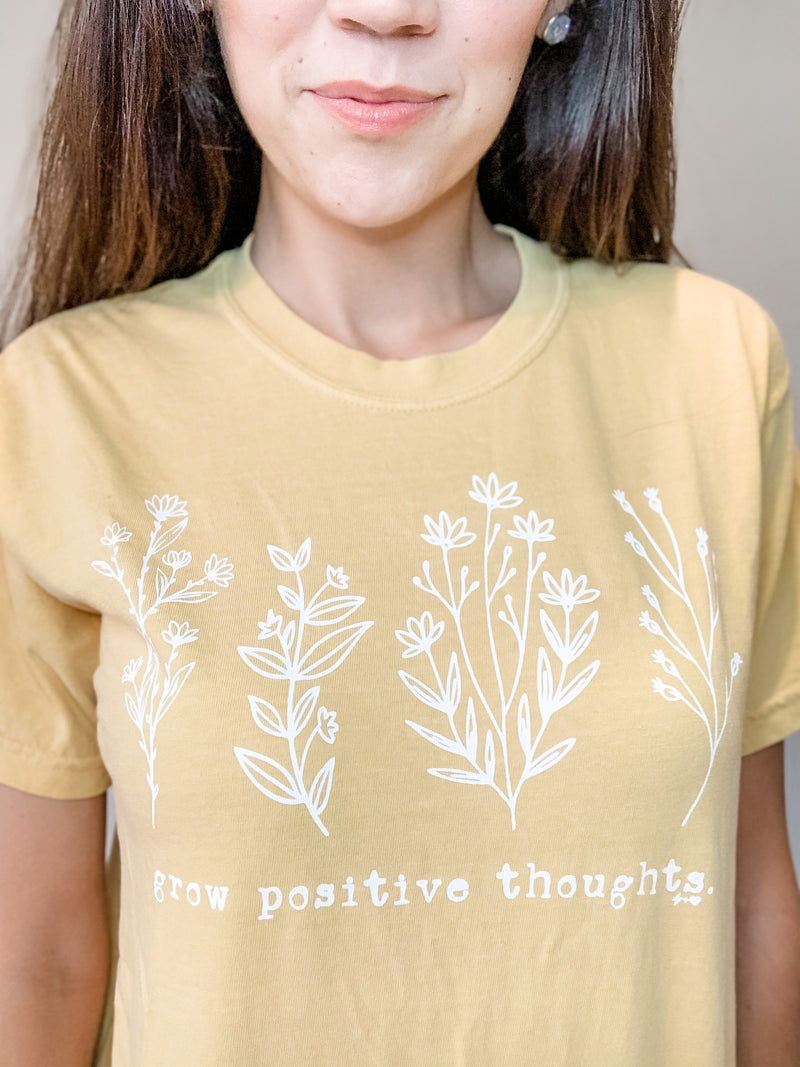 Grow Positive Thoughts Tee - Small, Large