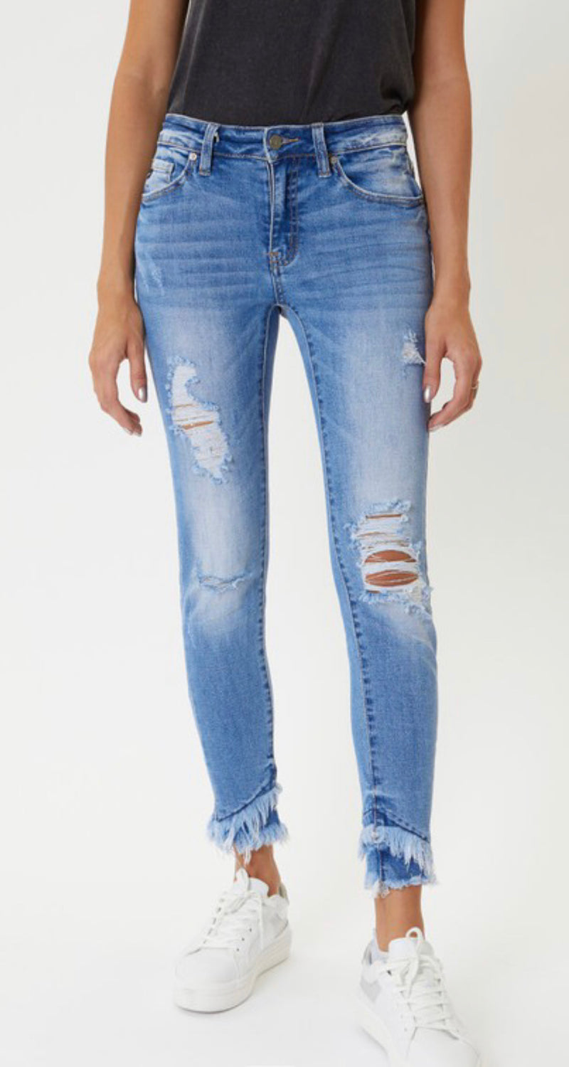 Best Ever Kancan Mid Rise Ankle Skinny Jeans
