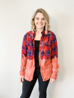 Cozy & Casual Bleached Flannel Shirt