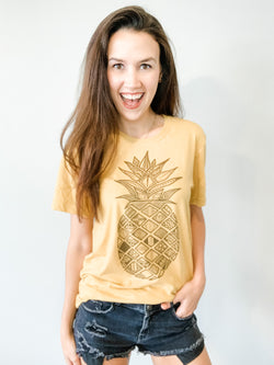 Aztec Golden Pineapple Tee - Medium