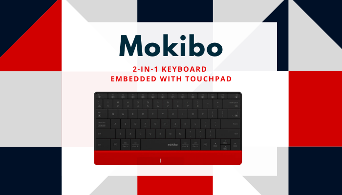 2-in-1 Keyboard Embedded with Touchpad, touchpad keyboard, ipad keyboard, wireless keyboard, lexuma, mokibo, 2-in-1 keyboard, portable keyboard, bluetooth keyboard, 2 合 1 觸控板鍵盤, 便攜鍵盤, 無線藍牙鍵盤,