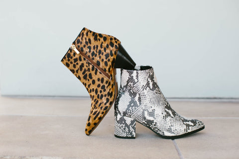 Ankle Boots With Animal Prints