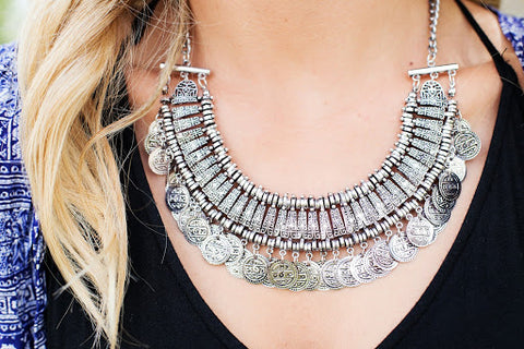 Chunky Silver Necklace Accessory