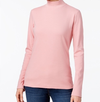 Cotton Mock-Neck Top