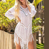 Tropical Hollow Out Beach Dress Cover Up - DSY - DSY Retailers