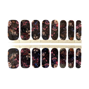 Dark Floral - NailsMailed