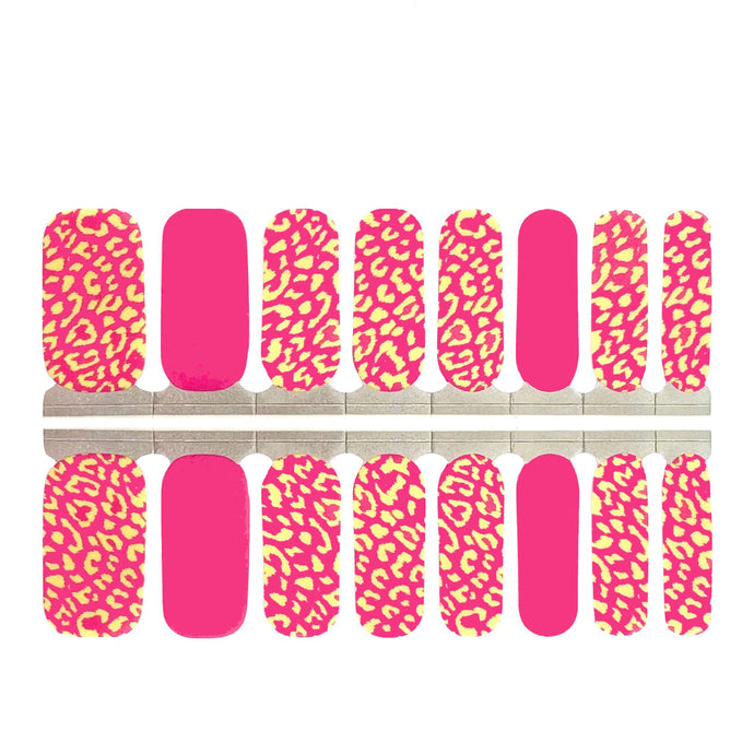 Hot Pink Leopard - NailsMailed