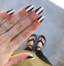 Load image into Gallery viewer, White Stripes - NailsMailed