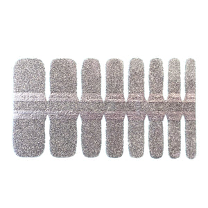 Pedicure - Silver Sparkles - NailsMailed