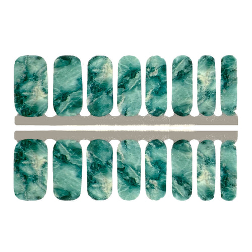 Teal Marble - NailsMailed