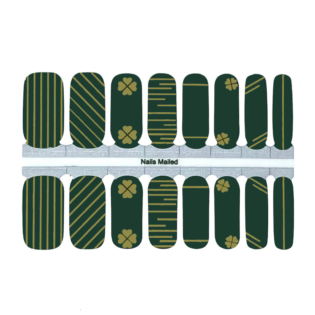 Golden Shamrocks - NailsMailed