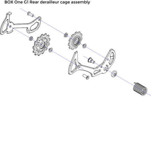 Box One 11 Speed Rear Derailleur Cage Assembly (1st Generation Cam-Clutch Models Only) - boxcomponents