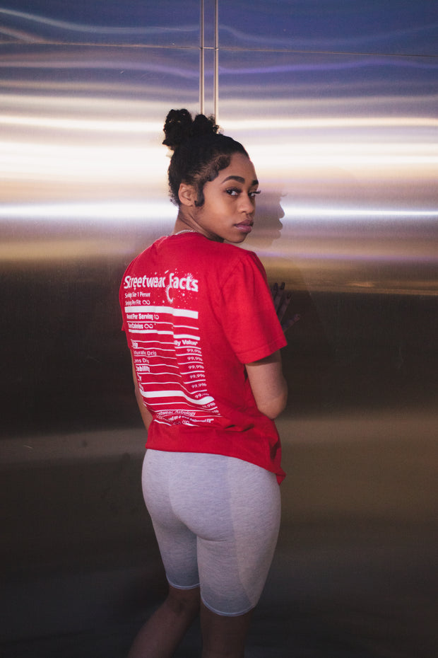 Streetwear Facts T-Shirt (Red)